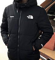 Зимняя теплая мужская куртка the North Face x Supreme (black) ,см.замеры в описании,Реплика,Распродажа!!!, фото 1