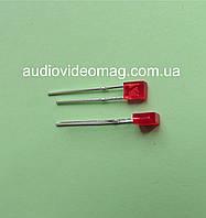 Светодиод 3V прямоугольный 2 х 3.4 мм, диффузный, цвет красный