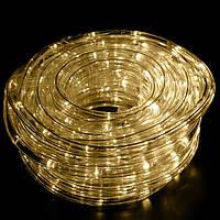 Гирлянда Xmas Rope light 10M теплый белый, светодиодная лента шланг, дюралайт