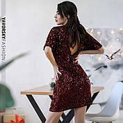 Элегантное вечернее молодёжное мини- платье расшитое пайетками S, M, L. размер, фото 2