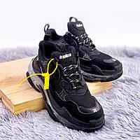 Мужские кроссовки Triple S Clear Sole All Black