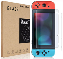 Закаленное защитное стекло Ricoddaa для Nintendo Switch / Есть чехлы