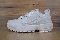 Кроссовки Fila Disruptor 2 женские, белые, в стиле Фила Дизраптор 2, материал - кожа, подошва - пена, код OD-2841. 39