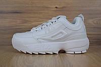 Кроссовки Fila Disruptor 2 женские, белые, в стиле Фила Дизраптор 2, материал - кожа, подошва - пена, код OD-2841. 40