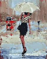 Картина по номерам (на цветном холсте) DIY Babylon Premium Летний дождь (NB834) 40 х 50 см