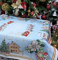 Скатерть гобеленовая COMET Новогодняя с люрексом 140х140 см 716-010