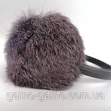 Наушники меховые Зимние кролик Серый цвет Меланж