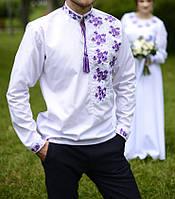 Комплект вышиванка. женское платье и мужская  сорочка. вышитое платье. вышитая рубашка. парный комплект