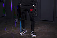 Зимние мужские спортивные штаны, мужские штаны на флисе, зимові чоловічі штани Black Star Mafia, Реплика