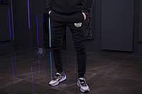Зимние мужские спортивные штаны, мужские штаны на флисе, зимові чоловічі штани Black Star (черный), Реплика
