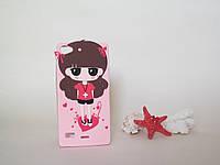 Силиконовый объемный 3D бампер чехол для Lenovo VIBE X2 Girl hip-hop pink