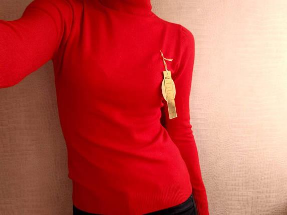 Гольф красный шерстяной женский Milano Zone кашемировые Милано и манжетами 46 48 50, фото 2