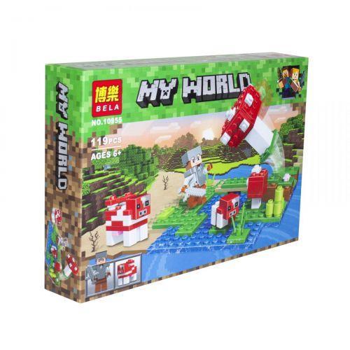 """Конструктор """"My World Minecraft: Грибной остров"""" аналог Лего Майнкрафт, 119 деталей  sco"""