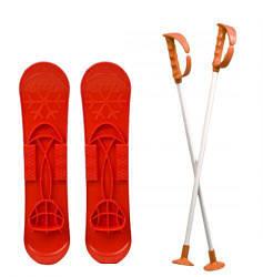 Детские лыжи SKI BIG FOOT красные 6586 scs