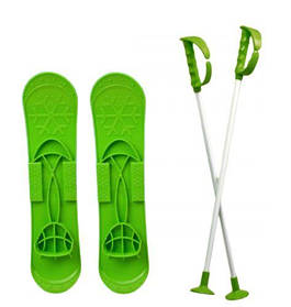 """Детские лыжи """"SKI BIG FOOT"""" (зеленые)  scs"""