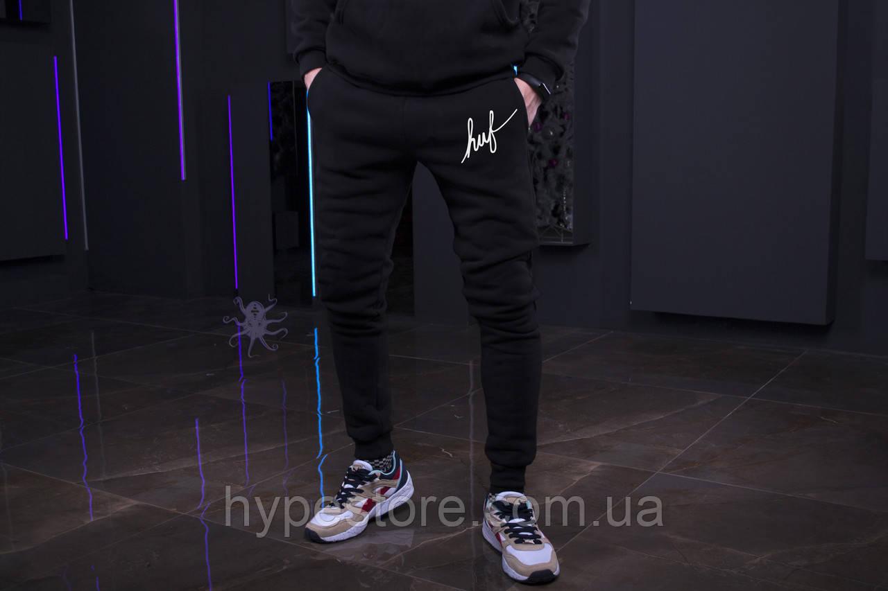 Зимние мужские спортивные штаны, мужские штаны на флисе, зимові чоловічі штани Huf, Реплика