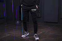 Зимние мужские спортивные штаны, мужские штаны на флисе, зимові чоловічі штани Lacoste, Реплика