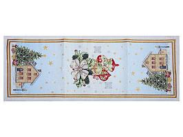 Раннер, доріжка COMET Новорічна гобеленова з люрексом 140 х 47 см 716-013
