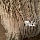 """Покрывало плед  - """"Шиншилла""""  Размер: 220*240 см. Мягкое меховое покрывало. Цвет - Бежевый., фото 3"""