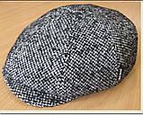 Кепка мужская в ёлочку из драпа воьмиклинка 56 57 58 59 60, фото 5