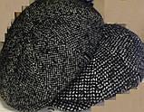 Кепка мужская в ёлочку из драпа воьмиклинка 56 57 58 59 60, фото 9