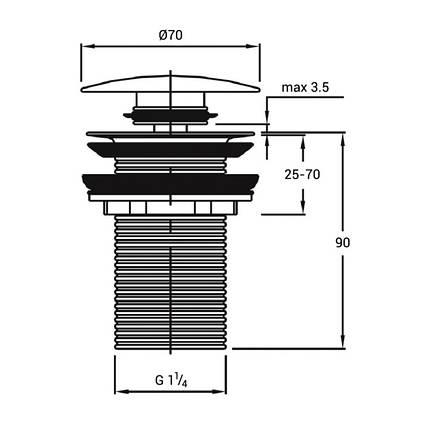 Донный клапан Q-tap F009 BLA Pop-up без перелива, фото 2