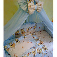 Кроватка+постель балдахин+ матрас кокос+ держатель, фото 1