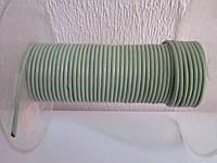 Кожа круглая гладкая цвет салатовый  2,0 мм