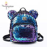 Рюкзак с пайетками Микки меняющий цвет   Код 10-6475, фото 4