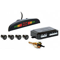 Парктроник автомобильный PAssistant на 4 датчика + LCD монитор Чёрные датчики