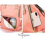 Рюкзак-органайзер для мам и детских принадлежностей нежно-розовый  Код 10-6841, фото 7