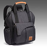 Рюкзак-органайзер для мам и детских принадлежностей светло-серый  Код 10-6879, фото 3