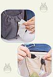 Рюкзак-органайзер для мам и детских принадлежностей светло-серый  Код 10-6879, фото 7
