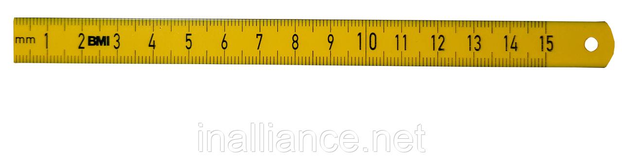 Лінійка гнучка сталева з покриттям з поліаміду 300 мм ISOFLEX GELB BMI 3577030
