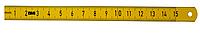 Лінійка гнучка сталева з покриттям з поліаміду 300 мм ISOFLEX GELB BMI 3577030, фото 1