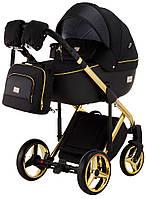 Детская коляска Adamex Luciano Polar (Gold) Q85 черный - черная кожа