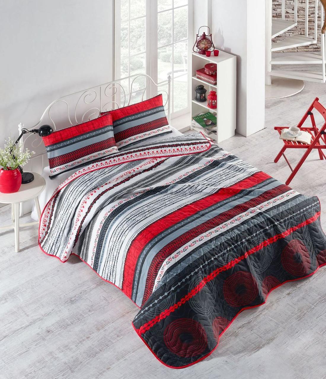 Покривало+наволочки 200х220 Efried червоний Eponj Home