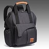 Рюкзак-органайзер для мам и детских принадлежностей темно-серый  Код 10-6915, фото 2