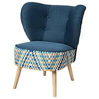 IKEA GUBBO (303.449.73) Кресло, темно-синий, разноцветный