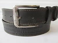 """Ремень мужской джинсовый шпенек черный(кл.кожа, 40 мм.) №М18091 """"Remen"""" LM-638"""