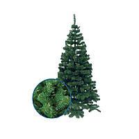 Искусственная новогодняя елка зеленая хвоя ПВХ высота 1,0 м. Ель искусственная классическая с подставкой