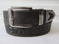 """Ремень мужской джинсовый шпенек черный(кл.кожа, 40 мм.) №М18092 """"Remen"""" LM-638"""