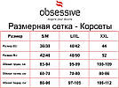 Корсет полупрозрачный  черный стринги в комплекте Obsessive 868, фото 8