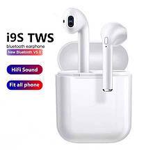 Беспроводные наушники Bluetooth TWS i9S с анимацией (силиконовый чехол в комплекте) Блютуз гарнитура
