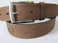 """Ремень мужской джинсовый шпенек коричневый(кл.кожа, 40 мм.) №М18095 """"Remen"""" LM-638"""