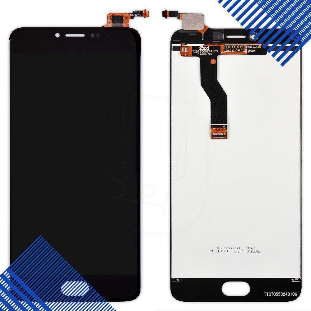 Дисплей Meizu M3 Note с тачскрином в сборе (цвет черный) версия L681h, копия высокого качества
