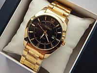 Мужские кварцевые наручные часы Seiko на металлическом ремешке