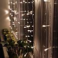 Гирлянда Водопад Alphatrade 3*2 м, 720 диодов, прозрачный провод, цвет белый теплый, без соединения, фото 2