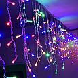 Гирлянда Бахрома Alphatrade  3*0,5 м, 108 диодов, прозрачный провод, разноцветный, фото 2