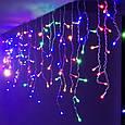 Гирлянда Бахрома Alphatrade  3*0,5 м, 108 диодов, прозрачный провод, разноцветный, фото 3